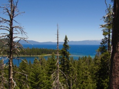 A view of Emerald Bay and Lake Tahoe